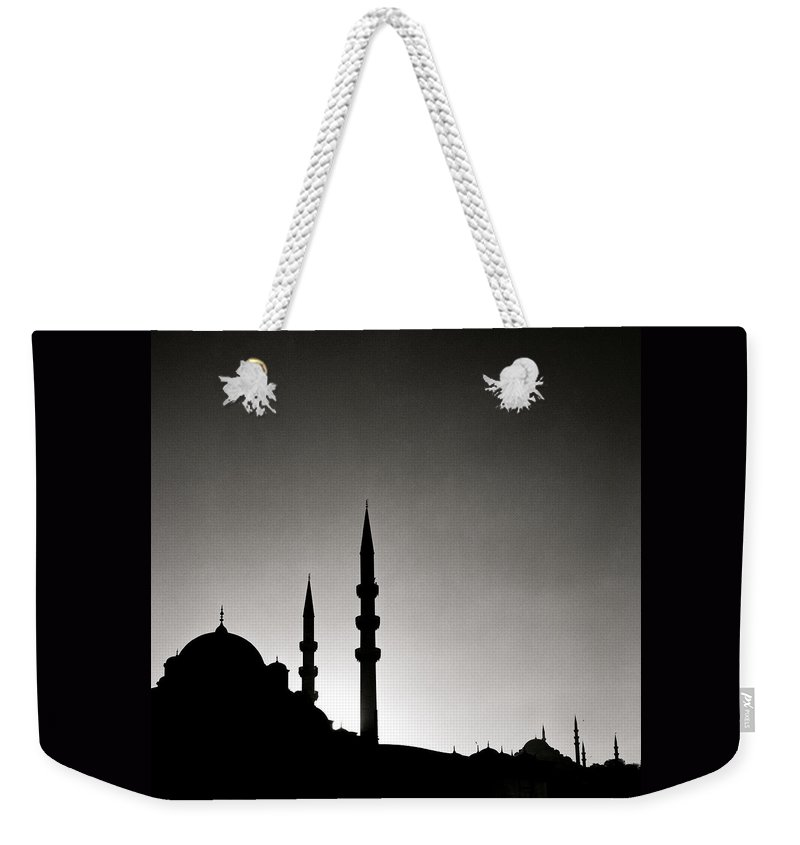 Istanbul Weekender Tote Bag featuring the photograph The Enchanting City by Shaun Higson