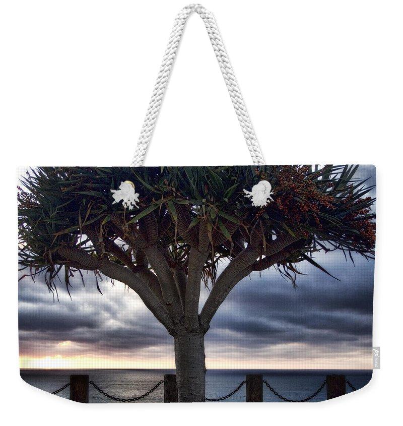 Encinitas Weekender Tote Bag featuring the photograph Encinitas Sunset by Carol Leigh