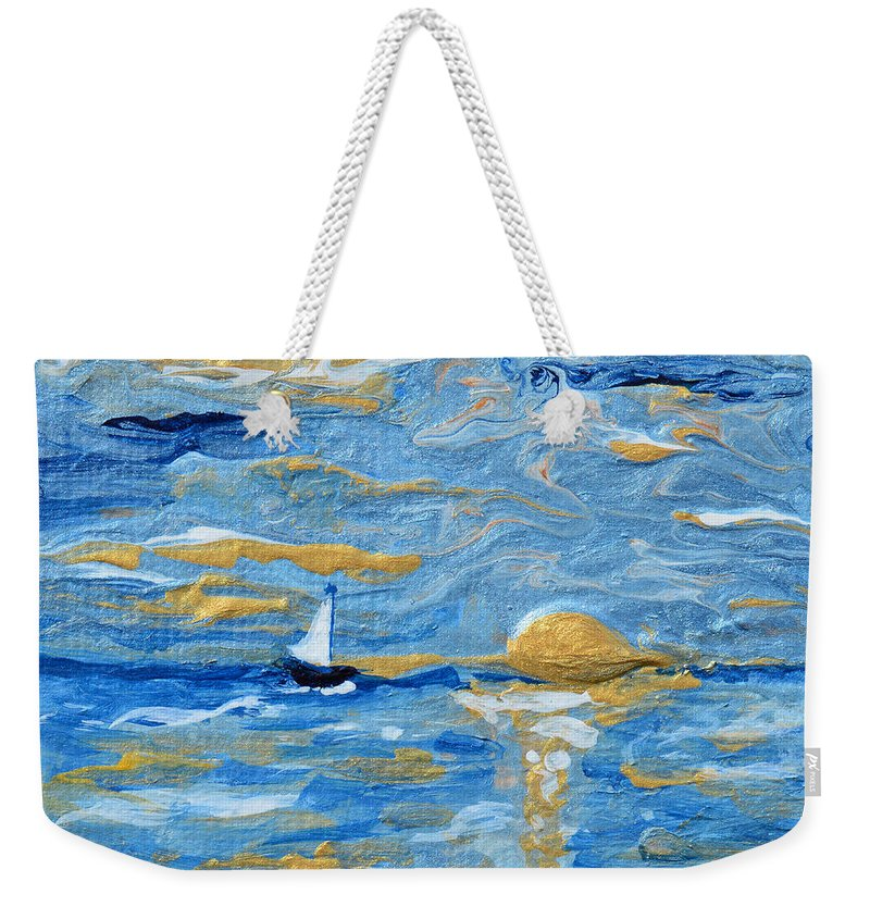 Ship Weekender Tote Bag featuring the painting End Of The Storm by Donna Blackhall