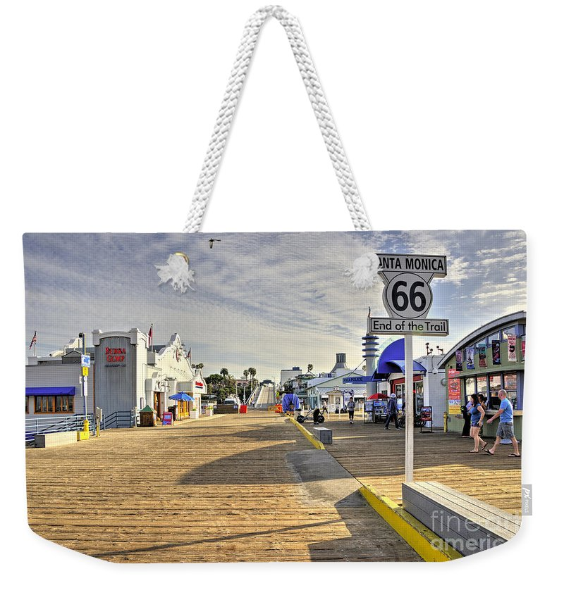 Route Weekender Tote Bag featuring the photograph End Of The Trail by Rob Hawkins