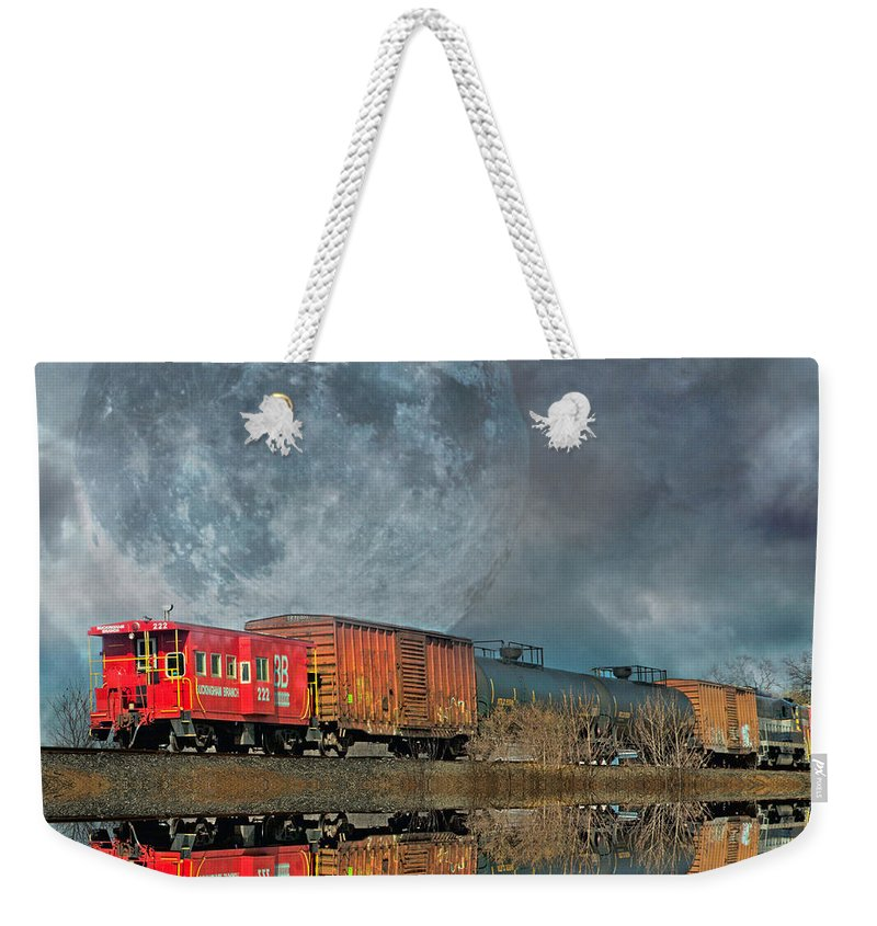 Full Weekender Tote Bag featuring the photograph End's Reflection by Betsy Knapp