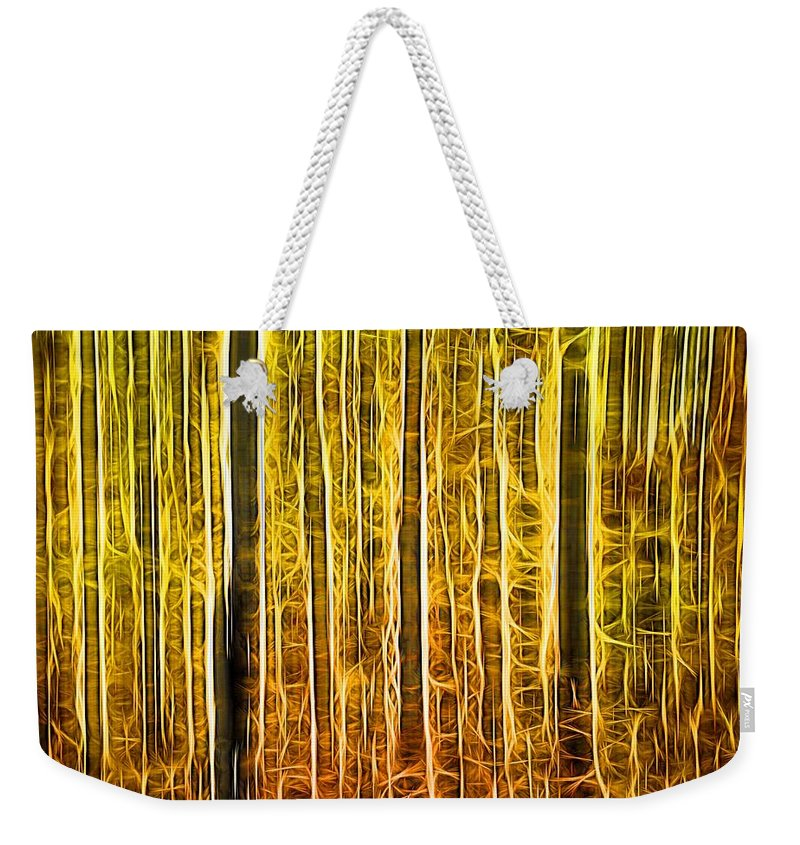 Energy Of The Forest Autumn Color Weekender Tote Bag featuring the digital art Energy Of The Forest Autumn Color by Dan Sproul
