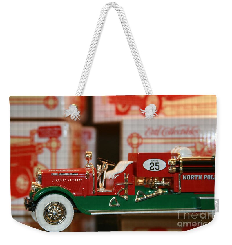 Sharon Mau Weekender Tote Bag featuring the photograph Engine 25 by Sharon Mau