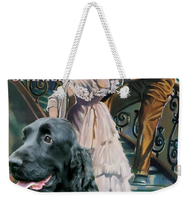 Cocker Spaniel Weekender Tote Bag featuring the painting English Cocker Spaniel Art - A Streetcar Named Desire by Sandra Sij