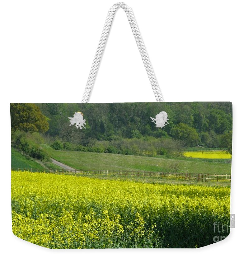 England Weekender Tote Bag featuring the photograph English Countryside by Ann Horn