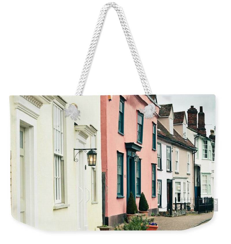 Anglia Weekender Tote Bag featuring the photograph English Houses by Tom Gowanlock