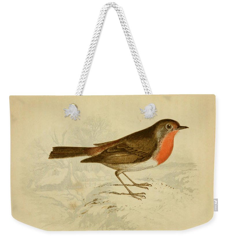 English Weekender Tote Bag featuring the painting English Robin by Philip Ralley