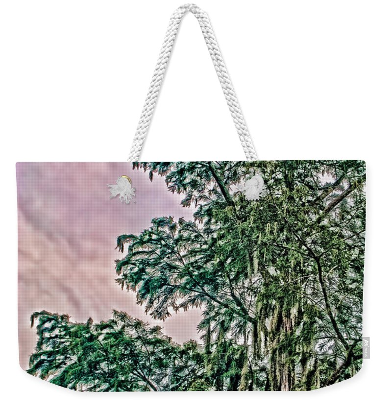 Tree Weekender Tote Bag featuring the photograph Enhanced Tree by Jon Cody