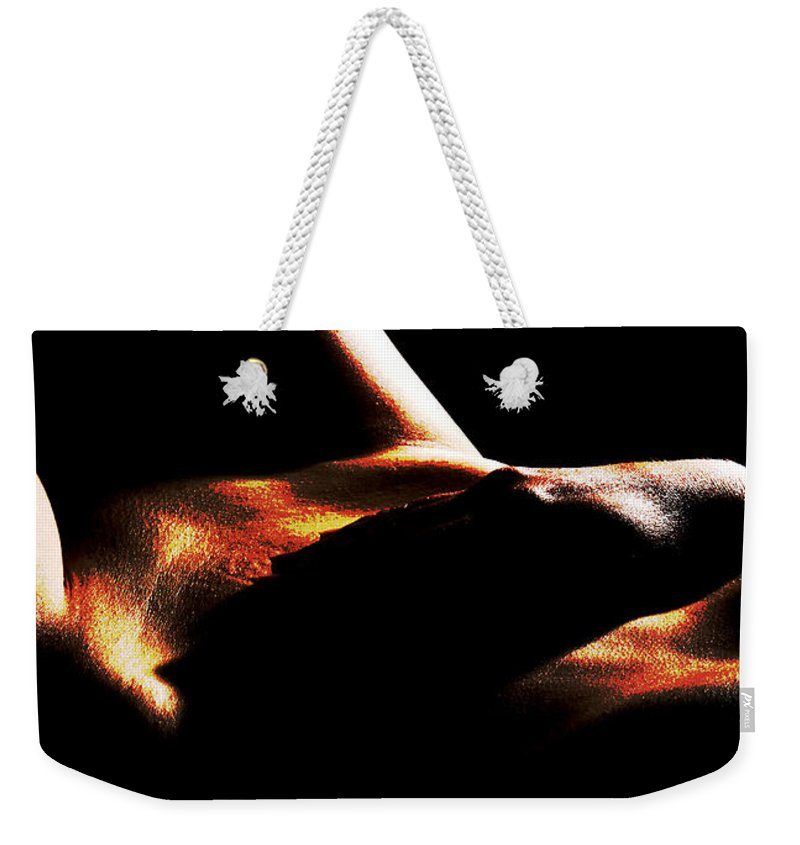 Nude Weekender Tote Bag featuring the photograph Enigma by Joe Kozlowski