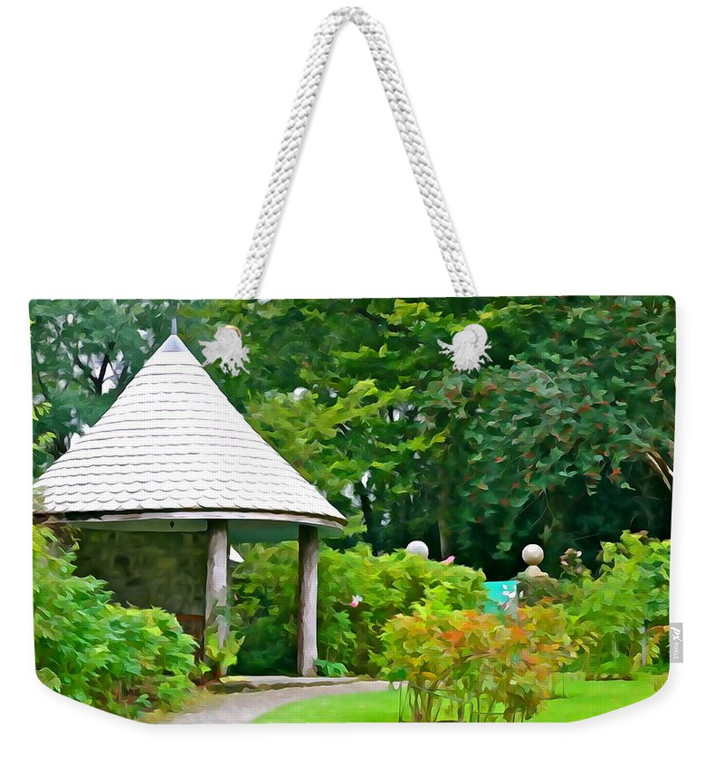Veranda Weekender Tote Bag featuring the photograph Enjoy The View by Charlie and Norma Brock