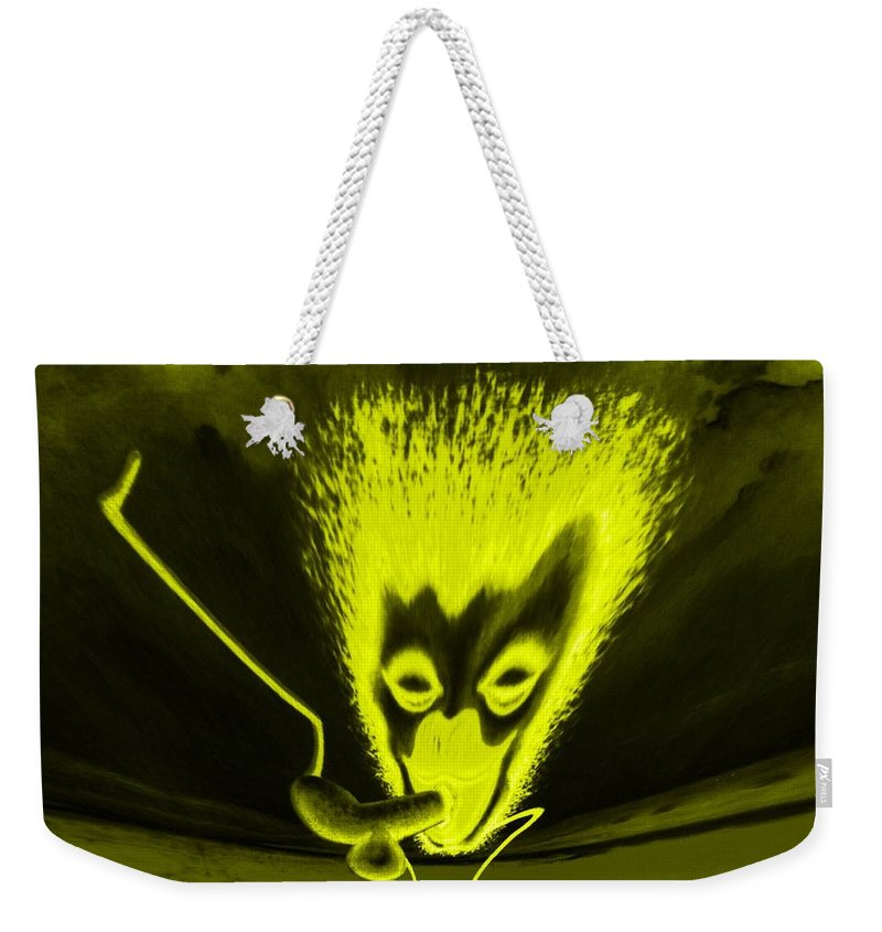 Genio Weekender Tote Bag featuring the mixed media Enlightened Encounter by Genio GgXpress