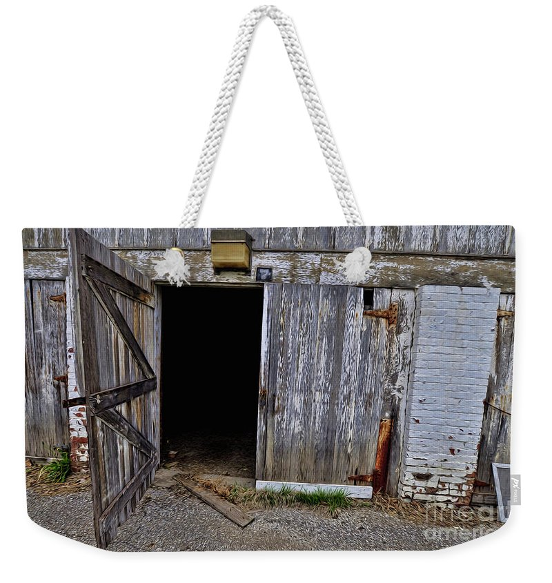 Enter If You Must Weekender Tote Bag featuring the photograph Enter If You Must by Liane Wright