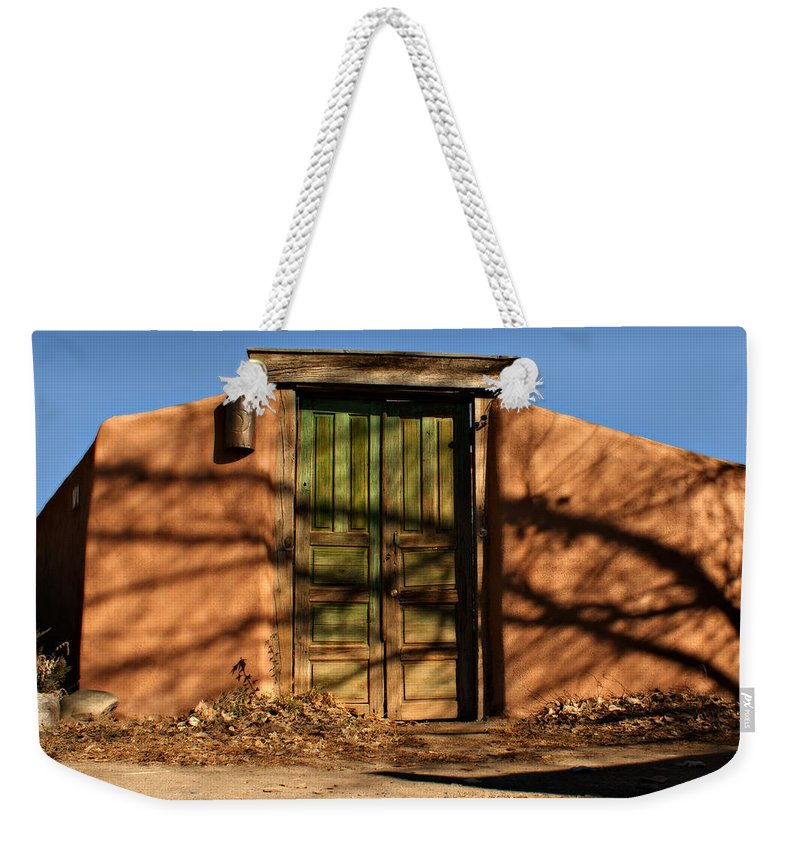 Southwest Weekender Tote Bag featuring the photograph Entrada Al Patio by Nikolyn McDonald
