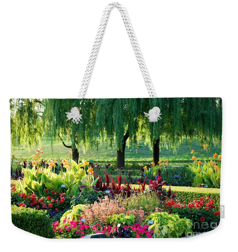 Garden Weekender Tote Bag featuring the photograph Entrance Garden by Nancy Mueller