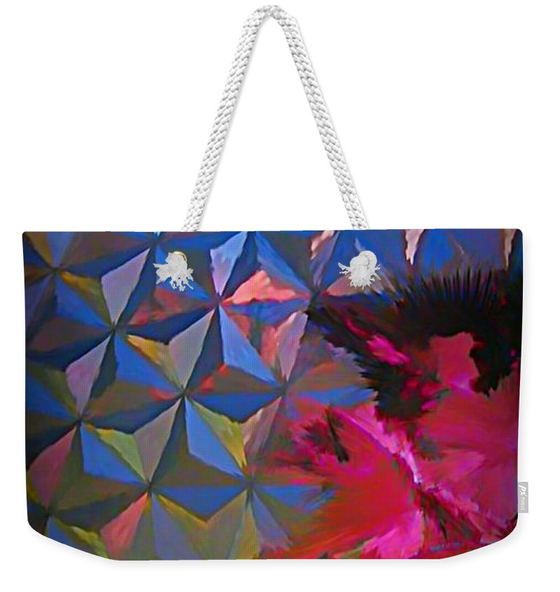 Abstract Weekender Tote Bag featuring the photograph Epcot Centre Abstract by John Malone