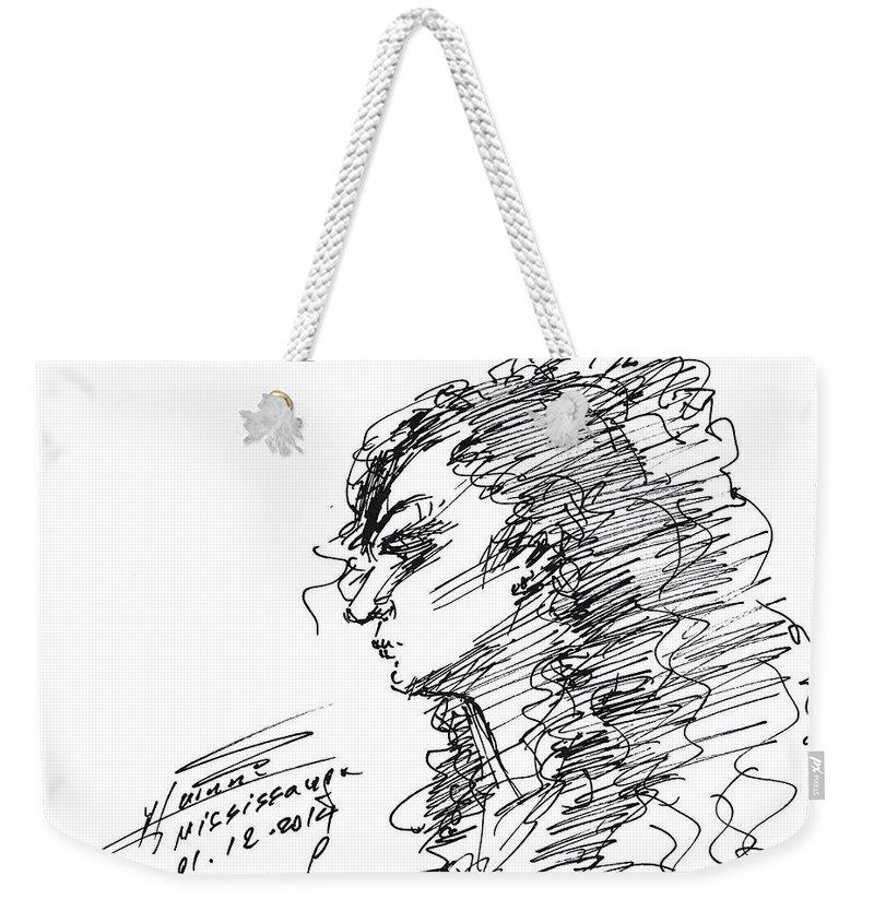 Sketch Weekender Tote Bags