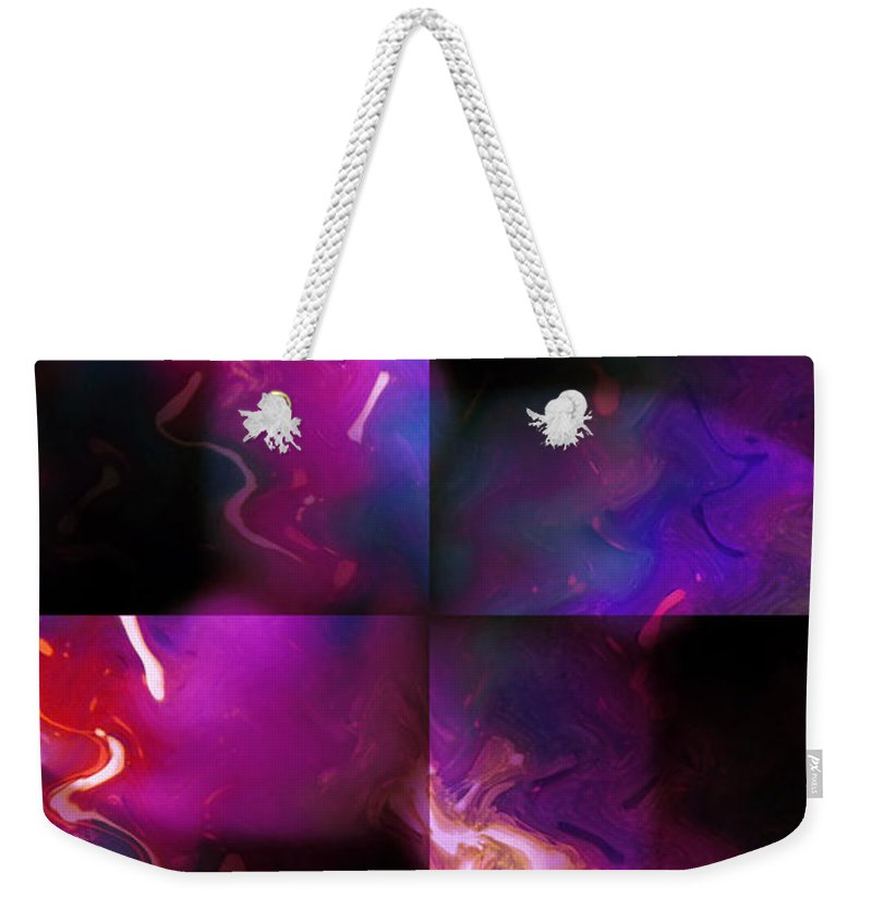 Woman Women Nude Naked Boobs Tits Breast Color Colorful Abstract Impressionism Expressionism Digital Art Two Arms Hand Body Scape Female Erotic Sex Sexual Weekender Tote Bag featuring the digital art Erotic Forms by Steve K