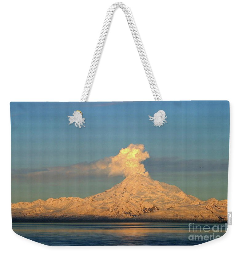 Mountain Weekender Tote Bag featuring the photograph Eruption by Rick Monyahan