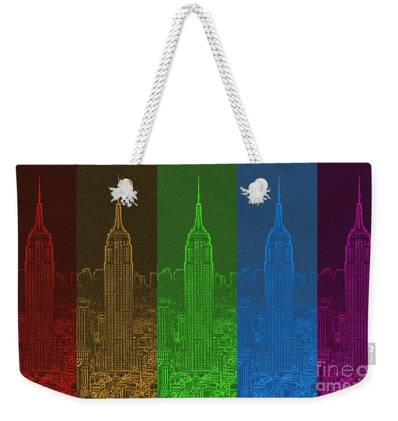 Color Spectrum Weekender Tote Bag featuring the digital art Esb Spectrum by Meandering Photography
