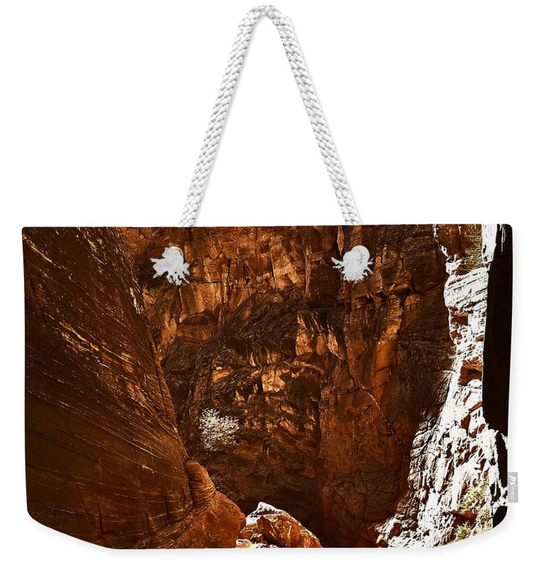Canyon Weekender Tote Bag featuring the photograph Escalante 5 by Ingrid Smith-Johnsen