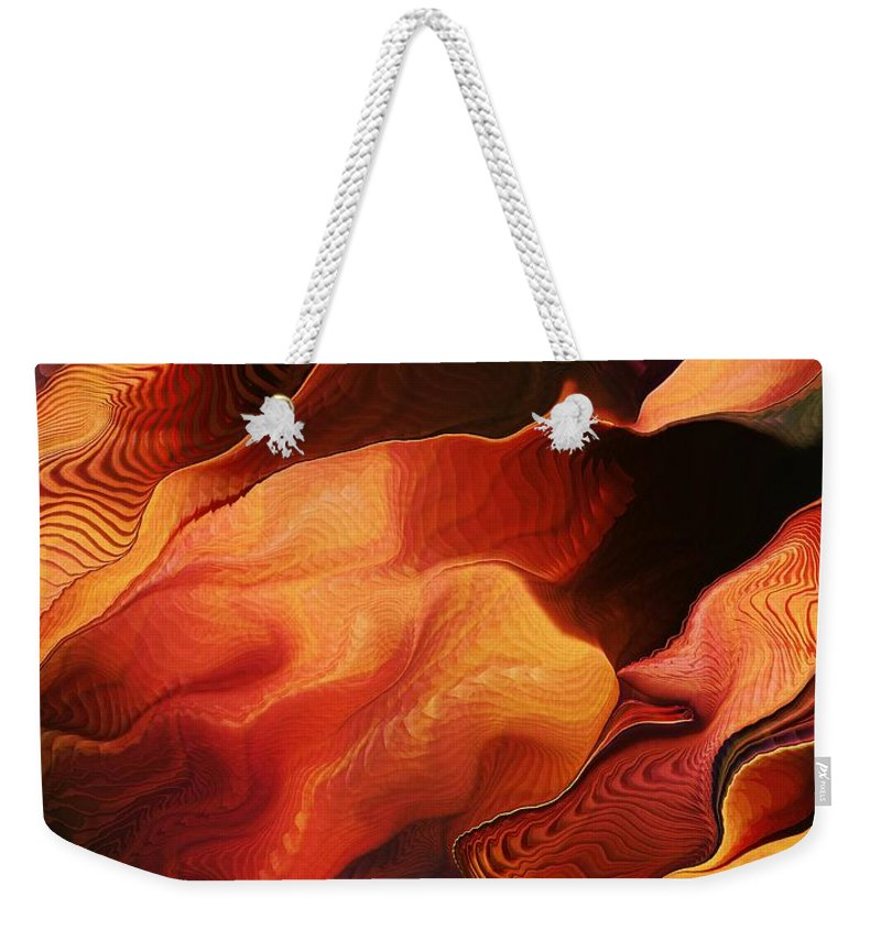 Abstract Weekender Tote Bag featuring the digital art Escalante by Richard Kelly