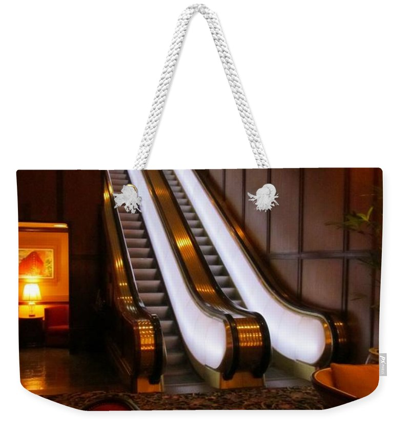 Escalator Art Weekender Tote Bag featuring the photograph Escalator In The Brown Palace by John Malone