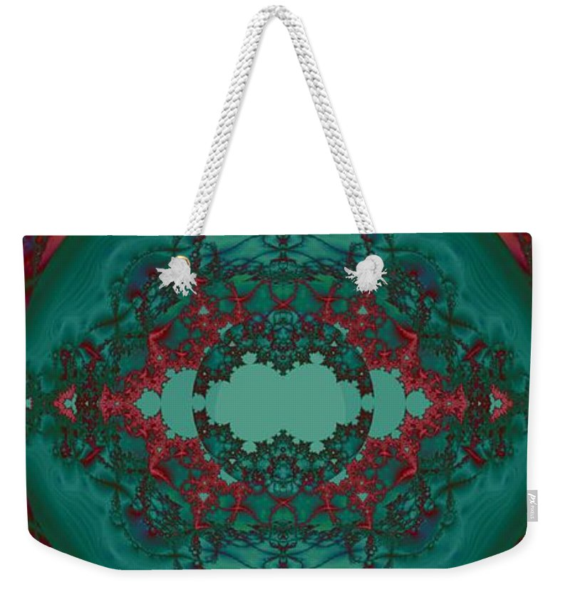 Escape Hatch 1 Weekender Tote Bag featuring the digital art Escape Hatch 1 by Elizabeth McTaggart