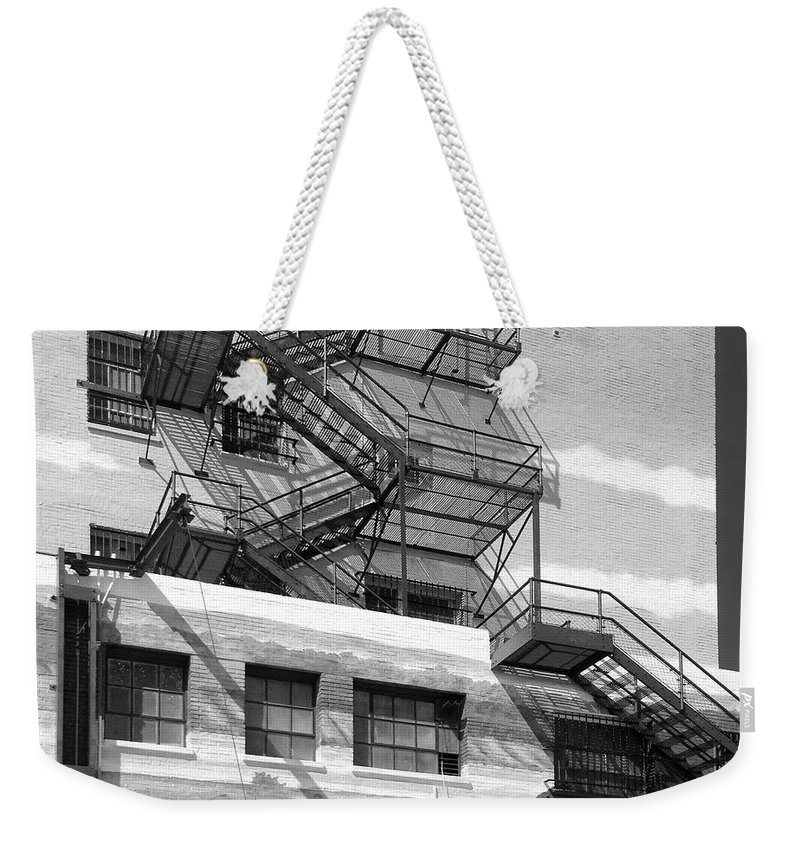 Fire Escape Weekender Tote Bag featuring the photograph Escape St. Joseph Missouri by Don Spenner