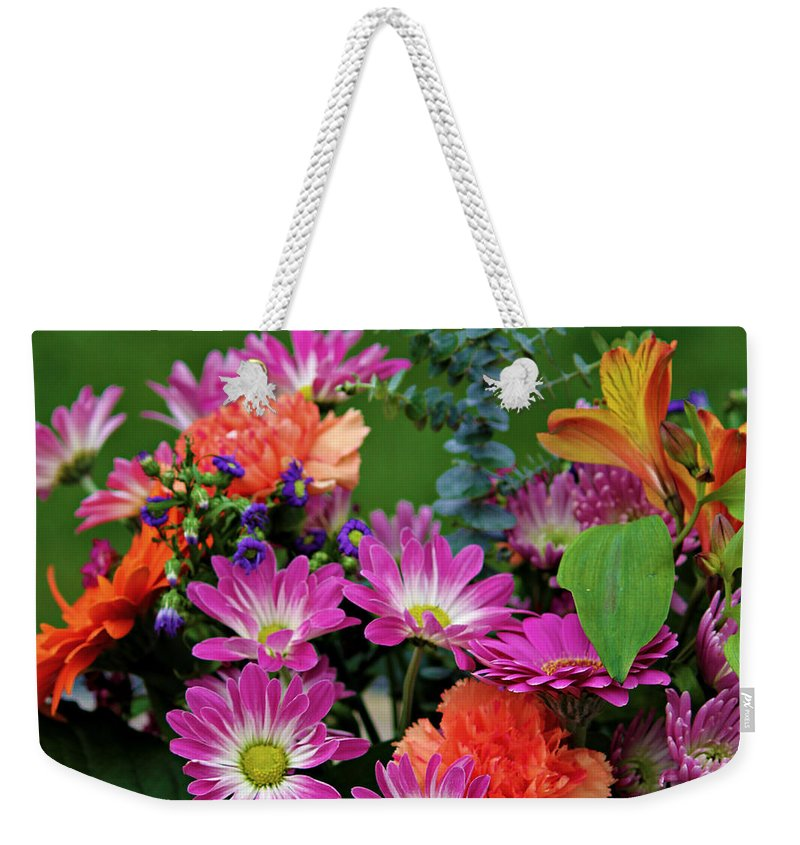 Flower Weekender Tote Bag featuring the photograph Essence Of Joy 3 by Jeanette C Landstrom