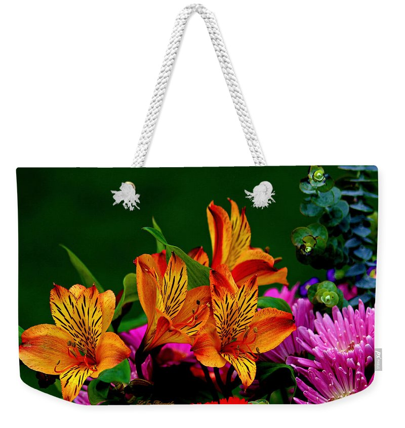 Flower Weekender Tote Bag featuring the photograph Essence Of Joy by Jeanette C Landstrom
