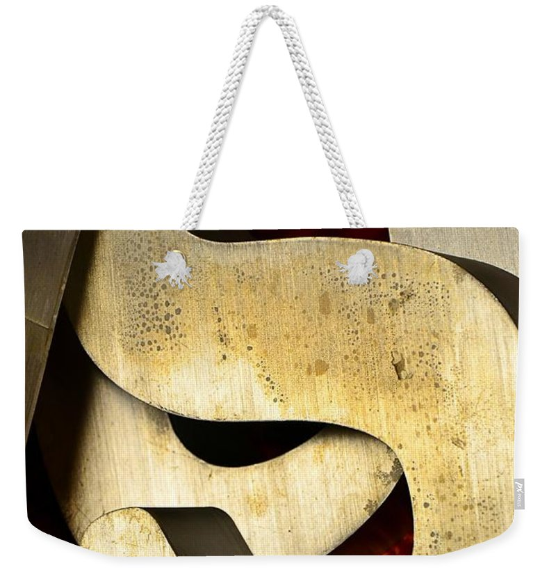 Abstract Weekender Tote Bag featuring the photograph Essss by Lauren Leigh Hunter Fine Art Photography