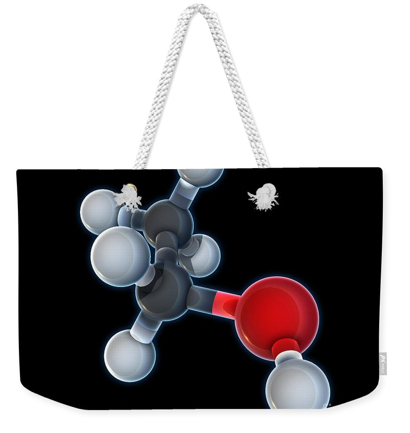 3d Model Weekender Tote Bag featuring the photograph Ethanol Molecular Model by Evan Oto