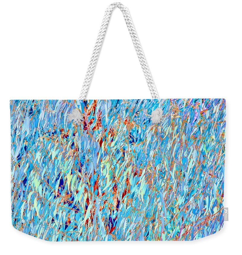 Eucalyptus Weekender Tote Bag featuring the photograph Eucalyptus In Blue by Angela Stanton