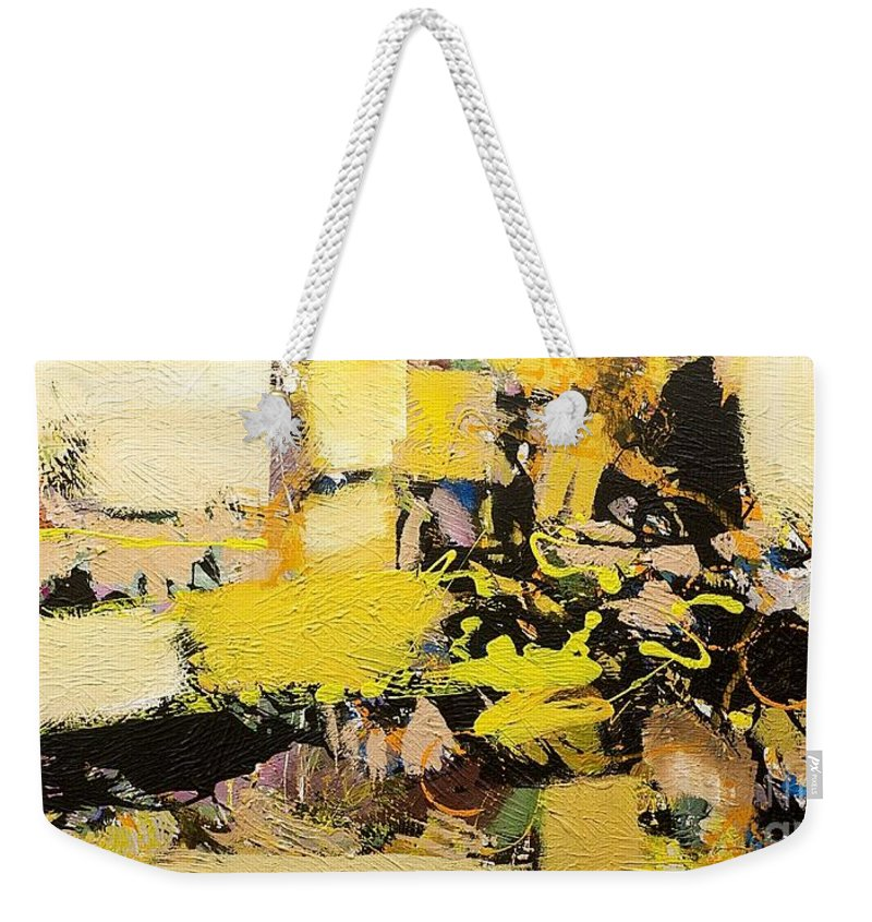 Landscape Weekender Tote Bag featuring the painting Euclid by Allan P Friedlander
