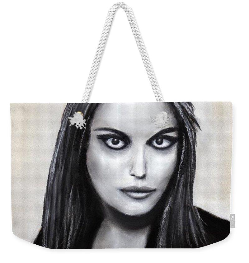 Face Weekender Tote Bag featuring the painting Euryale by Anastasiya Malakhova