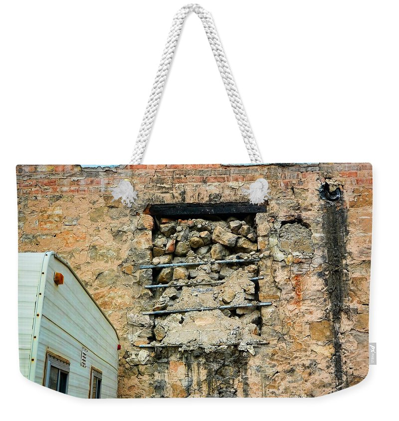 Evanston Weekender Tote Bag featuring the photograph Evanston Wyoming - 1 by Ely Arsha