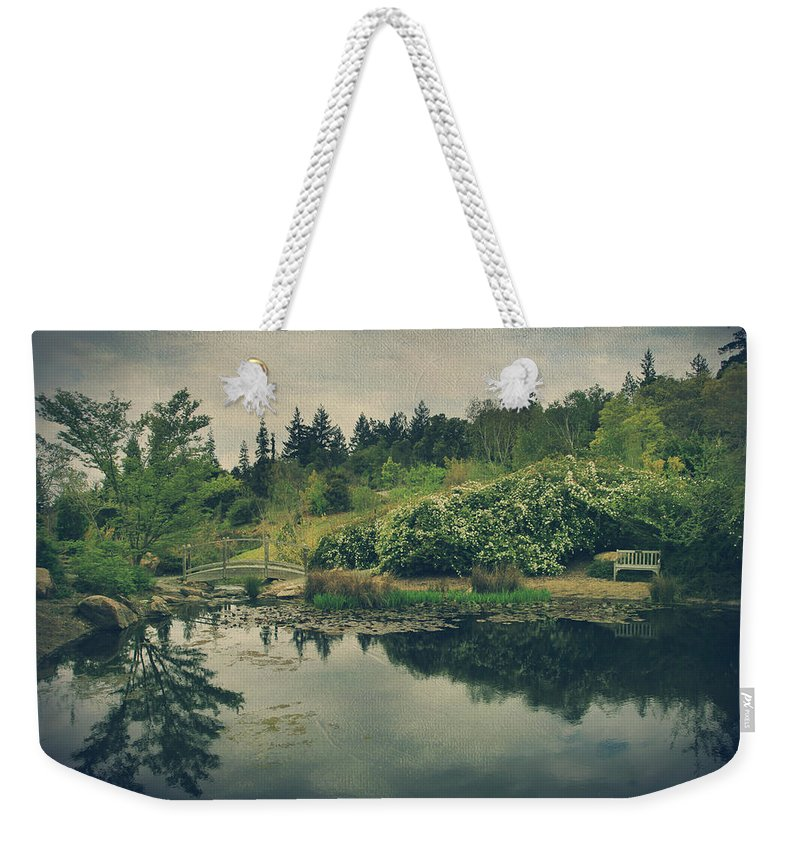 Quarry Hills Botanical Garden Weekender Tote Bag featuring the photograph Even After You're Gone by Laurie Search