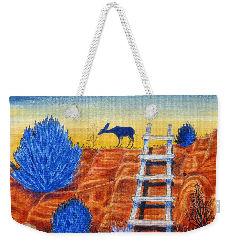 Aimee Mouw Weekender Tote Bag featuring the painting Evening Browse by Aimee Mouw