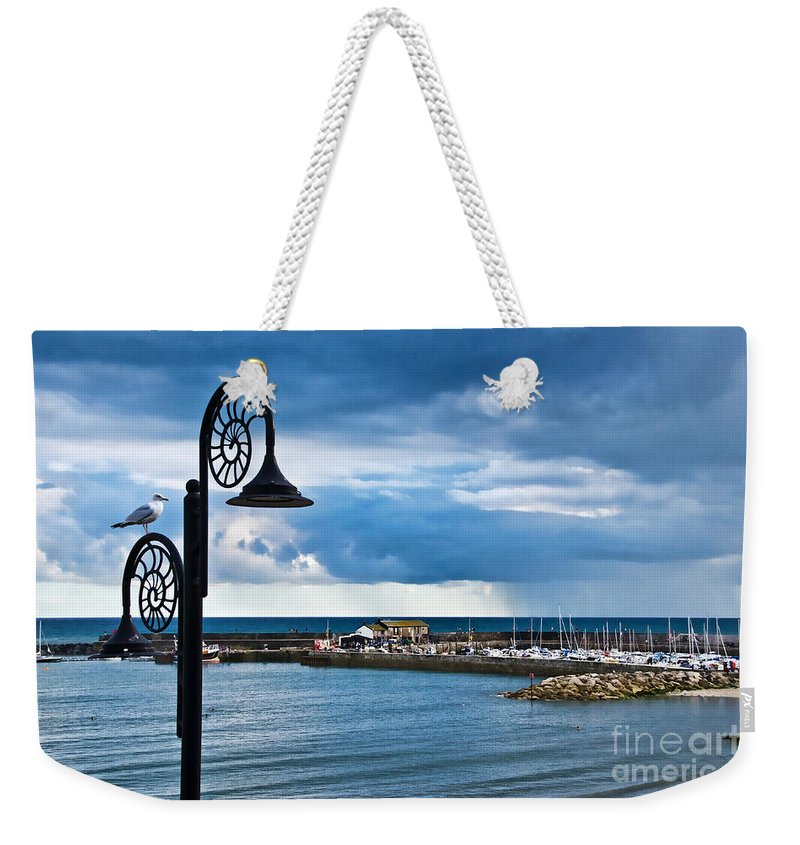 Evening Weekender Tote Bag featuring the photograph Evening Calm At Lyme Regis by Susie Peek