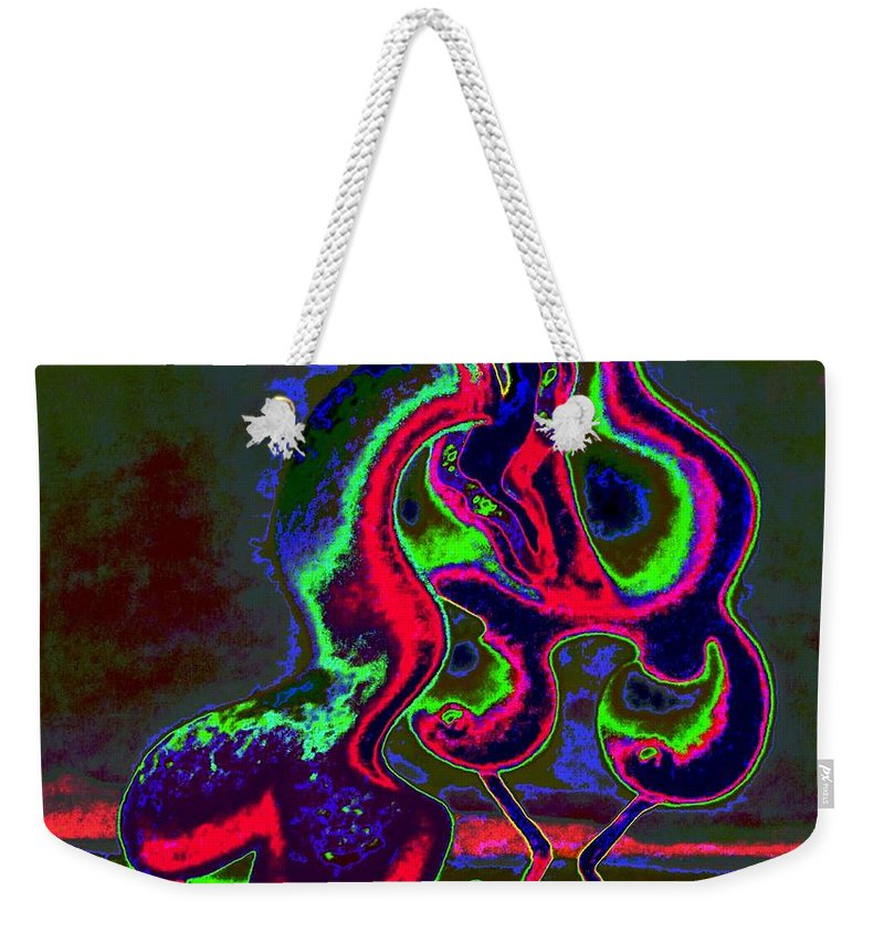 Genio Weekender Tote Bag featuring the mixed media Evening Desire by Genio GgXpress