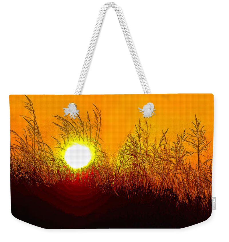 Sauble Beach Weekender Tote Bag featuring the photograph Evening Dunes by Steve Harrington