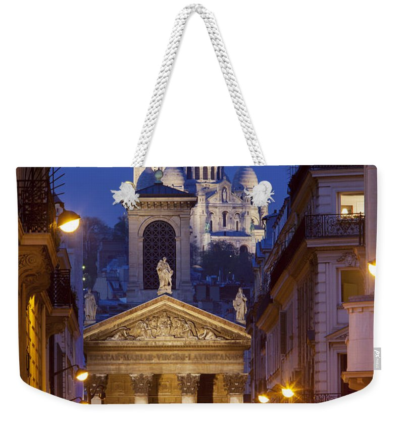 Architectural Weekender Tote Bag featuring the photograph Evening In Paris by Brian Jannsen