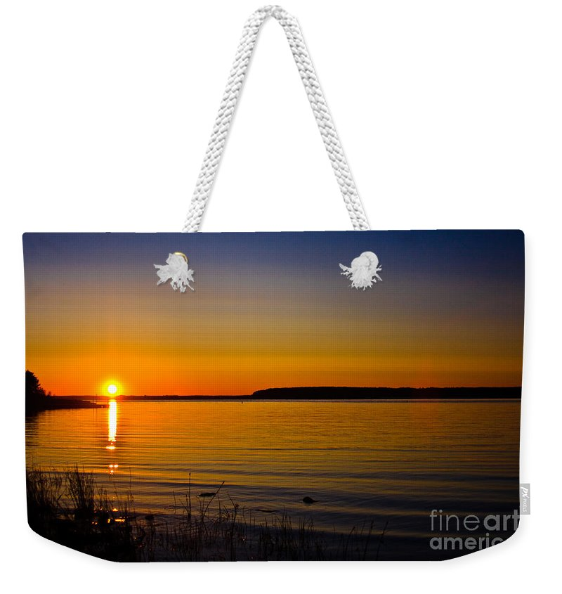 Andrew Slater Photography Weekender Tote Bag featuring the photograph Evening Peace by Andrew Slater
