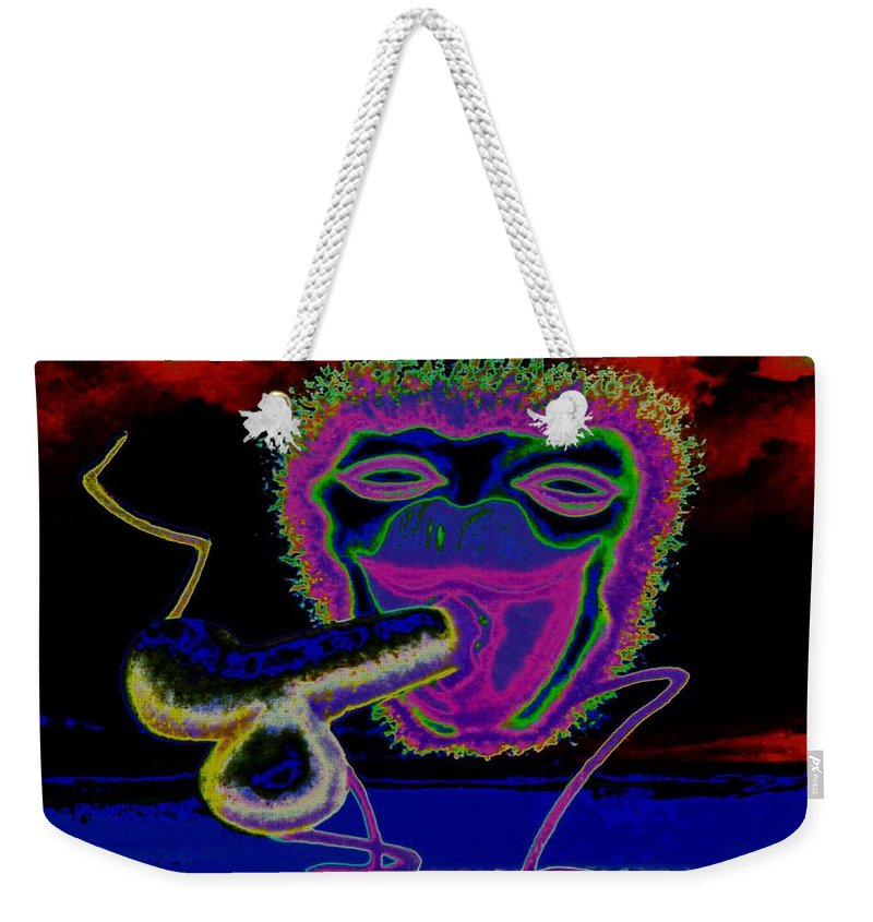 Genio Weekender Tote Bag featuring the mixed media Evening Pleasure by Genio GgXpress