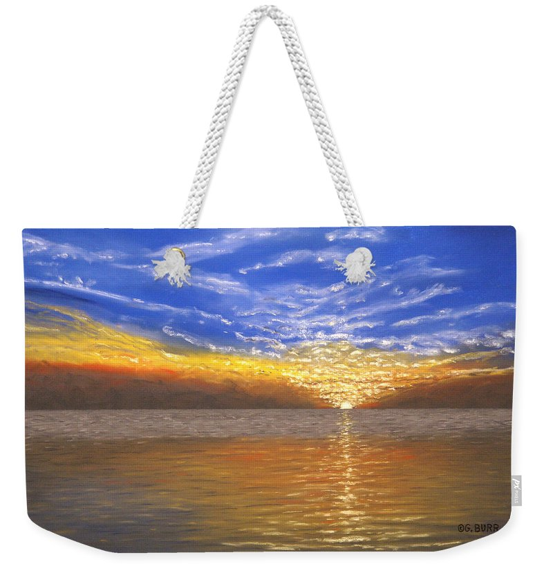 Nature Weekender Tote Bag featuring the pastel Evening Splash by George Burr