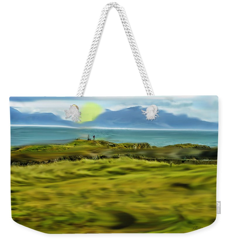 Field Weekender Tote Bag featuring the photograph Evening Stroll By The Seashore by Ericamaxine Price