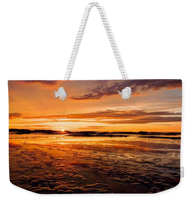 Cedar Key Weekender Tote Bag featuring the photograph Eventide At Cedar Key by John M Bailey
