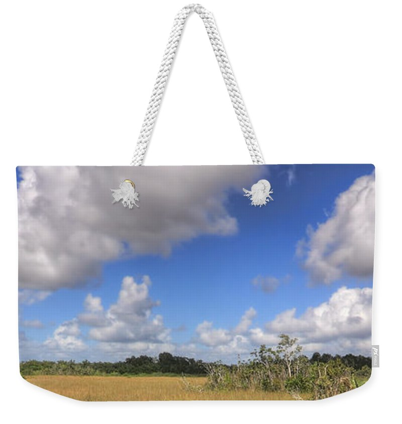 Beautiful Weekender Tote Bag featuring the photograph Everglades Landscape Panorama by Rudy Umans