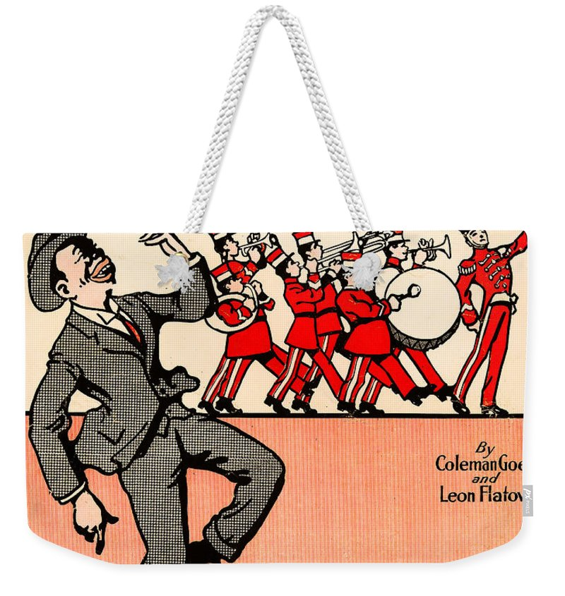 Everybody Loves A Jazz Band Weekender Tote Bag featuring the photograph Everybody Loves A Jazz Band by Bill Cannon