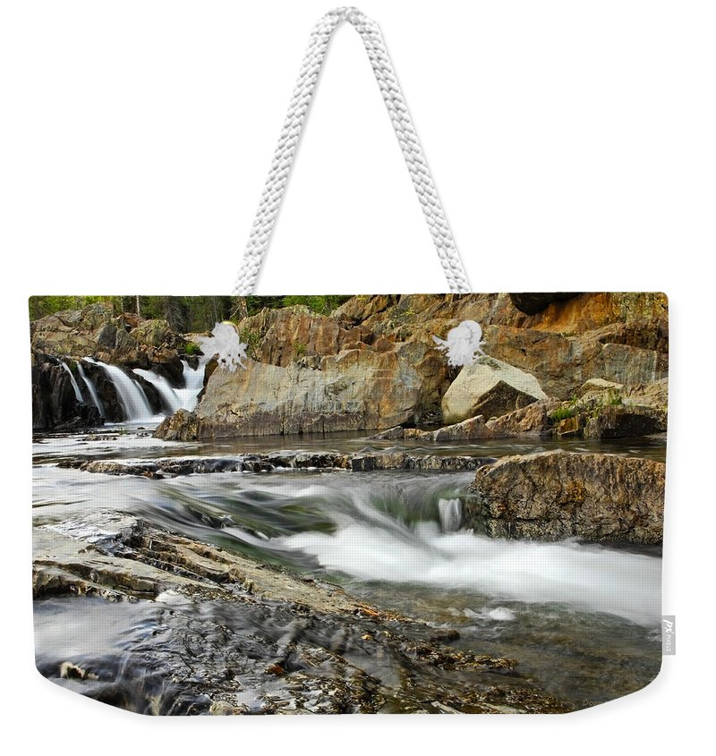 Nature Weekender Tote Bag featuring the photograph Everything Flows by Donna Blackhall